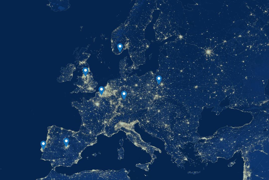 EUniversal Consortium Partners Map