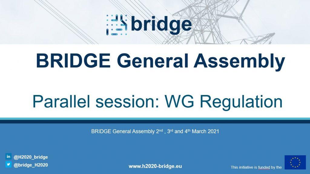 Bridge h2020 WG Regulation