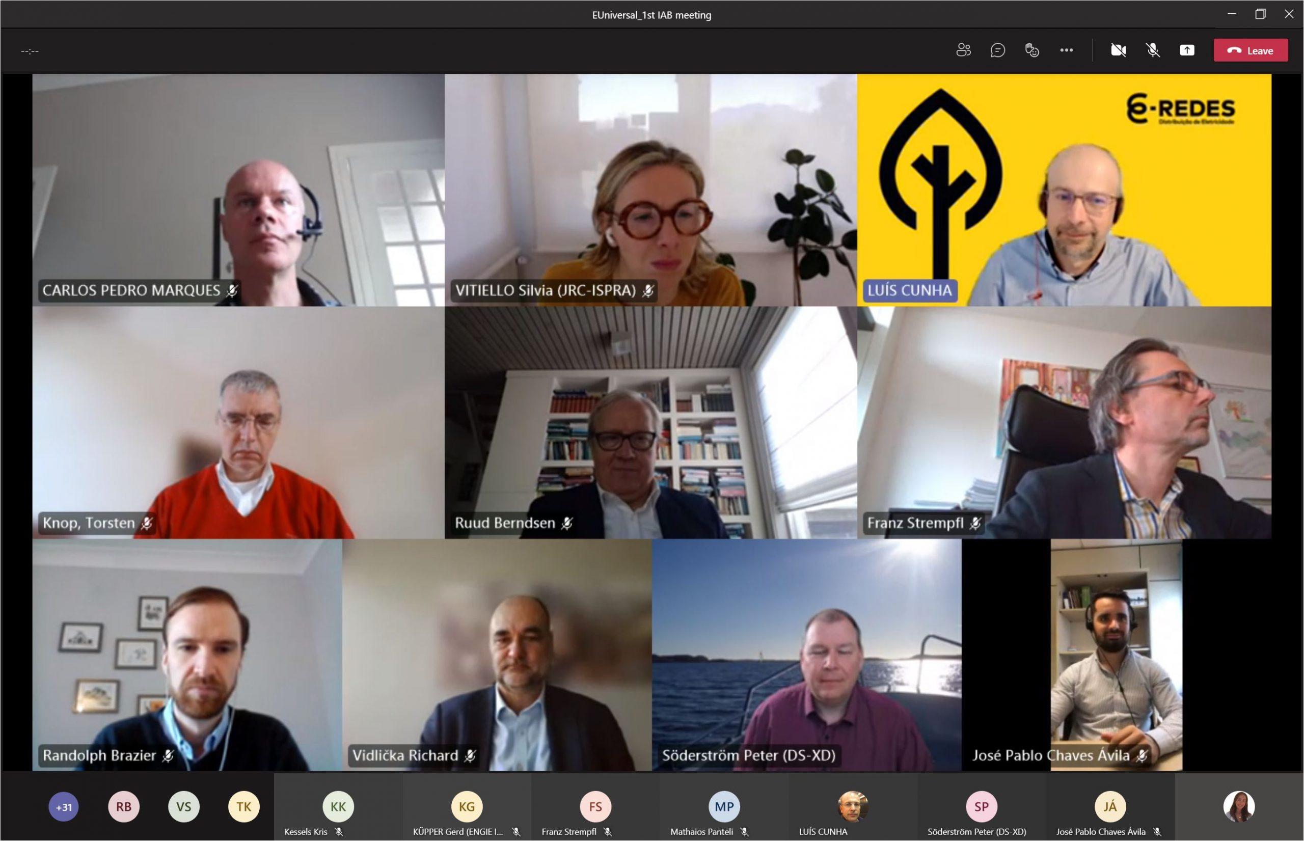 EUniversal project 1st International Advisory Board meeting